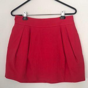 Zara TRF Coral Pleated Balloon Mini Skirt